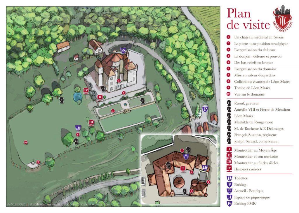 visite guidée, plan du château